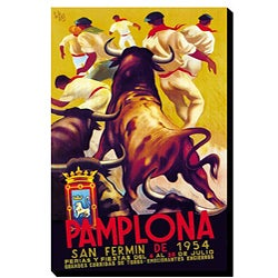 'Pamplona' Gallery-wrapped Canvas Art