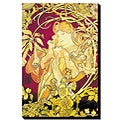 Alphonse Maria Mucha 'Ivy' Gallery-wrapped Canvas Art
