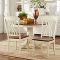 TRIBECCA HOME Mackenzie Country Antique White Side Chair (Set of 2)