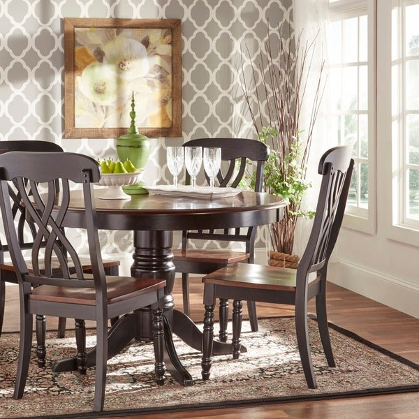 TRIBECCA HOME Mackenzie Country Style Two Tone Side Chairs Set Of 2 12253