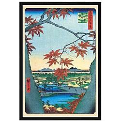 Utagawa Hiroshige 'Maple Trees' Framed Art Print
