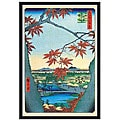 Utagawa Hiroshige 'Maple Trees' Framed Art Print