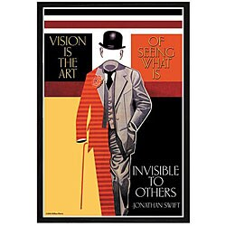 'Vision Is The Art' Framed Print Art