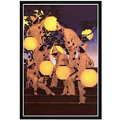 Maxfield Parrish 'Lantern Bearers' Framed Print Art
