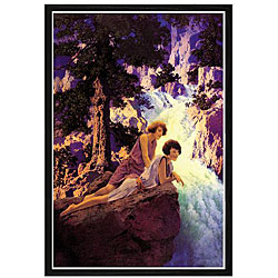 Maxfield Parrish 'Waterfall' Framed Print Art