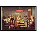 'Dog Poker - Passing The Ace' Framed Print Art