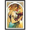 Alphonse Maria Mucha 'Fruit' Framed Art Print