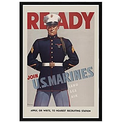 'Join U.S. Marines' Framed Print Art
