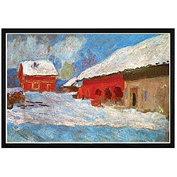 Claude Monet 'Red Houses' Framed Print Art