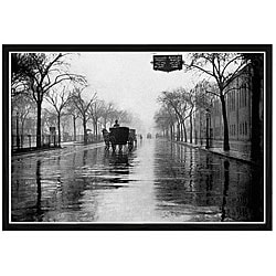 'Rainy Day New York' Framed Print Art