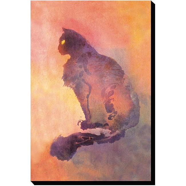 'Purple Cat' Gallery-wrapped Canvas Art