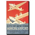 'City of New York Municipal Airport' Gallery-wrapped 24x36 Canvas Art