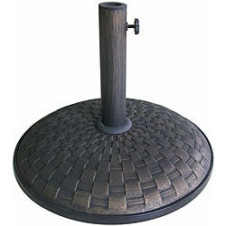 Lauren & Company Bronze Weave Pattern 55-pound Umbrella Stand