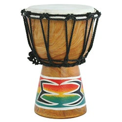 Mini Djembe Drum with Goatskin Head and Mahogany Shell (Indonesia)