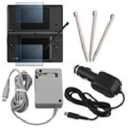 Insten Charger/ Screen Protector/ Stylus for Nintendo Dsi