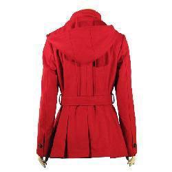 Esprit Women's Single-breasted Hooded Wool Jacket