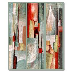 Joval 'Abstract Triptych' Canvas Art