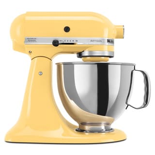 KitchenAid KSM150PSMY Majestic Yellow 5-quart Artisan Tilt-Head Stand Mixer