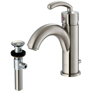 VIGO Single Lever Bathroom Faucet in Brushed Nickel Finish with Drain Assembly