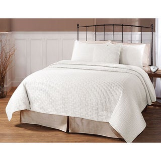 Landon White 3-piece Quilt Set
