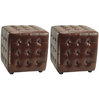Safavieh Kristof Cordavan Ottomans (Set of 2)