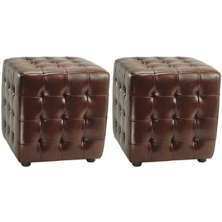 Safavieh Kristof Storage Cordavan Ottomans (Set of 2)