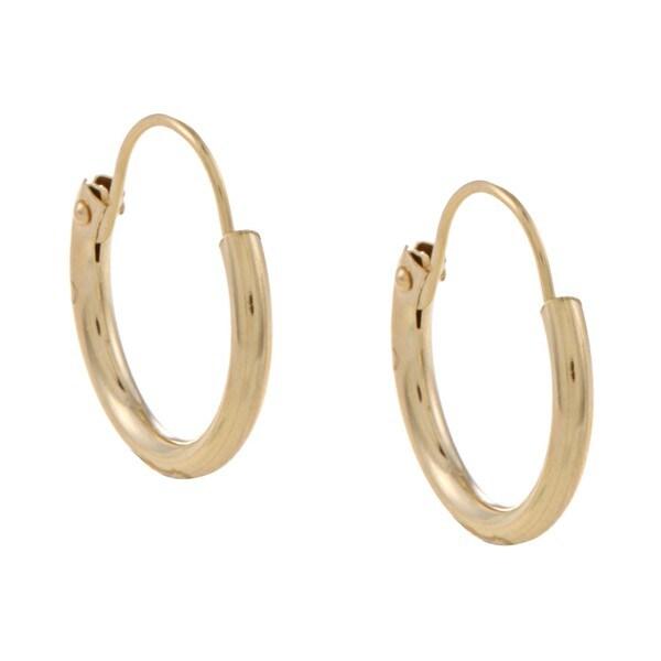 Mondevio 14k Gold 10 mm Mini Hoop Earrings