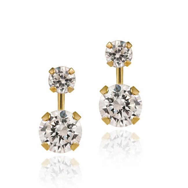 Icz Stonez 14k Gold Cubic Zirconia Double-drop Earrings