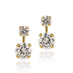 Icz Stonez 14k Gold Cubic Zirconia Double-drop Earrings
