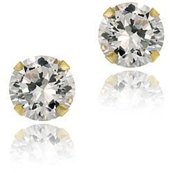 Icz Stonez 14k Gold Cubic Zirconia 5-mm Round Stud Earrings