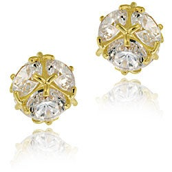Icz Stonez 14k Gold Cubic Zirconia Ball Stud Earrings