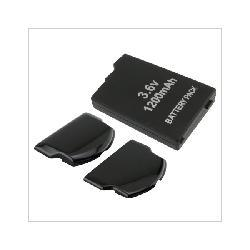 3.6V Rechargeable Battery + Back Door Cover for Sony PSP 2000 3000