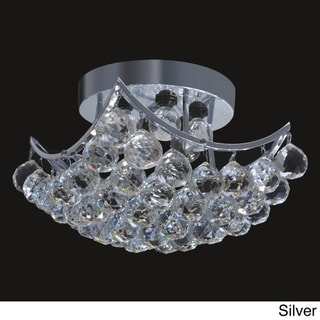 Square Crystal Ball 8-inch Flush-mount Ceiling Chandelier