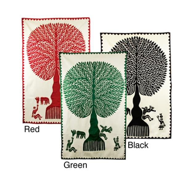Fair Trade 'Tree of Life' Wall Hanging (India)