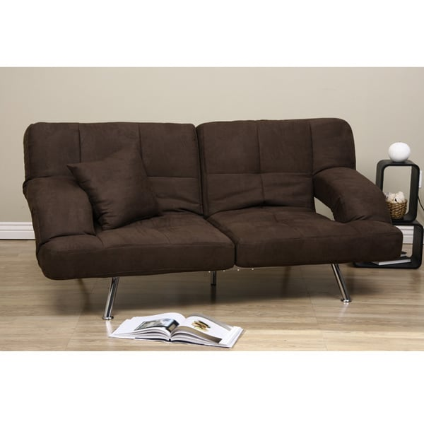 Dark Brown Microfiber Sofa Bed 80001417 Shopping Great Deals On Sofas