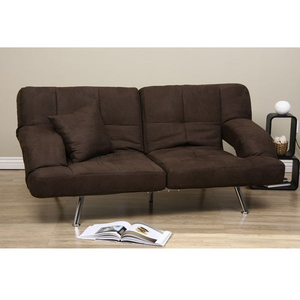 Dark brown microfiber sofa bed 80001417 shopping great deals on sofas Brown microfiber couch and loveseat