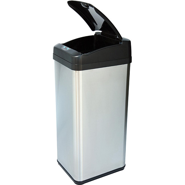 iTouchless 13-gallon Square Extra-wide Opening Trash Can