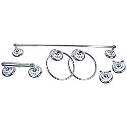 Moen Boutique Blue Floral 6-piece Bath Accessory Kit