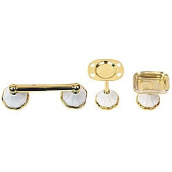 Moen Polished Brass 'Rivera' 3-piece Bath Accessory Kit