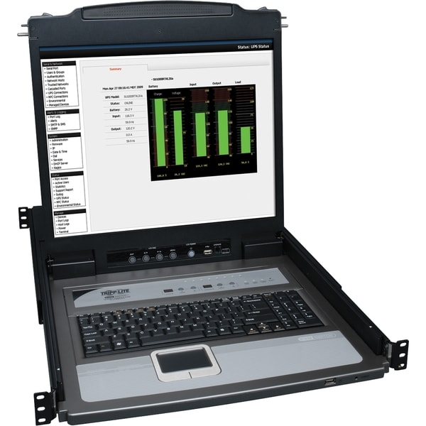 Tripp Lite NetDirector Console RM LCD KVM Switch with 8 Cables - Stee