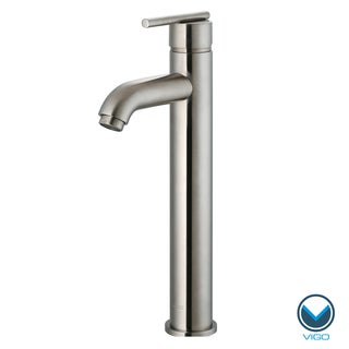 VIGO Brushed Nickel Finish Bathroom Vessel Faucet