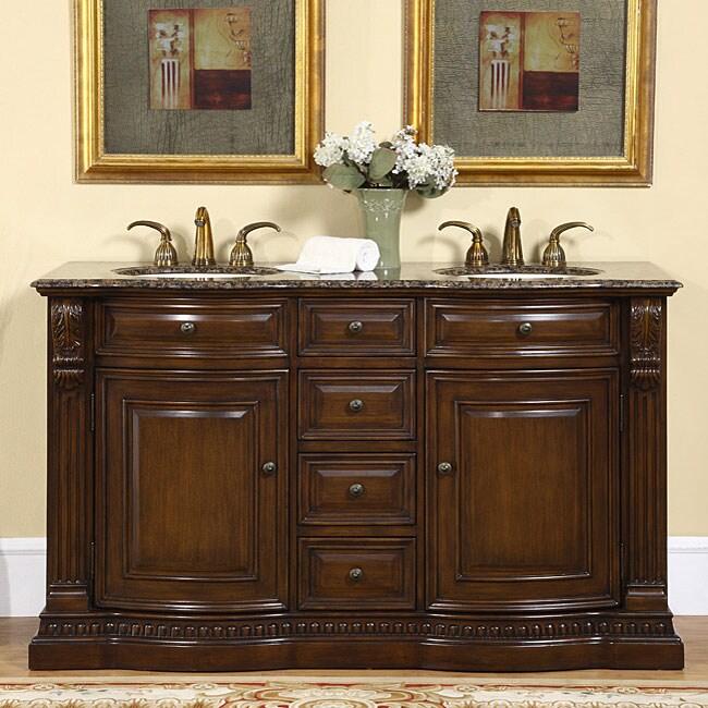 silkroad exclusive orinda double sink bathroom vanity 12259164