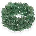Glitzy Rocks Aventurine Chip Multi-row Stretch Bracelet