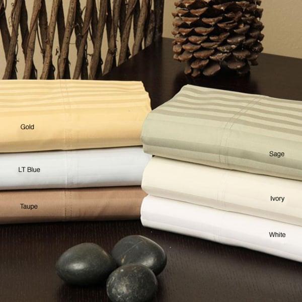 Egyptian Cotton Striped 1500 Thread Count Pillowcase Set