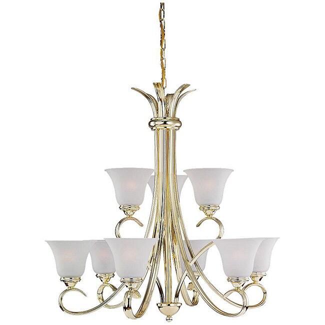 Rialto Polished Brass 9-light Chandelier