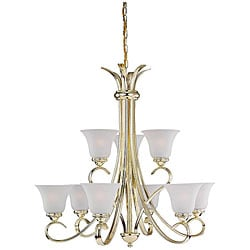 Rialto Polished Brass 9-light Chandelier