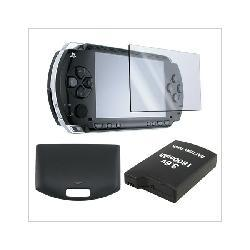 PSP 1000 - Battery + Back Door Cover + LCD Screen Protector - By Eforcity