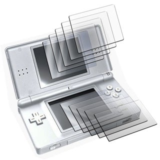 Set of 5 Two Piece LCD Screen Protectors For Nintendo DS Lite