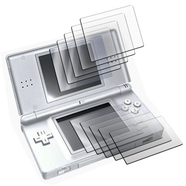 Insten Set of 5 Two Piece LCD Screen Protectors For Nintendo DS Lite
