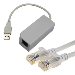 50 FT CAT 5e 5 Ethernet Cable + USB LAN Adapter for Nintendo Wii